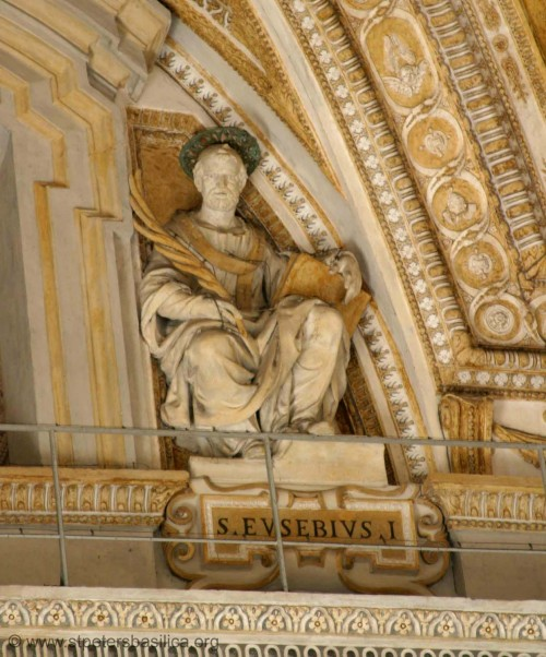A Renaissance Eusebius - in a portico of Saint Peters, Vatican City