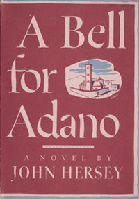 First edition cover for John Hersey's 1944 novel A Bell For Adano, winner of the Pulitzer in 1945 - In this American novel, an Italian American arrives with the allied invasion of Italy to run an italian town as the chief officer of the Allied Military Government.  His name was Joppolo and his aim wasn't to keep order and make money, but to reset the city firmly on its feet for its own good.  Belisarius in the 530's took over North Africa for his overlord, the emperor Justinian, and rather than sacking and stripping it, attempted to fold the Roman populace back into the empire like a long-lost sheep after a century under German kings.